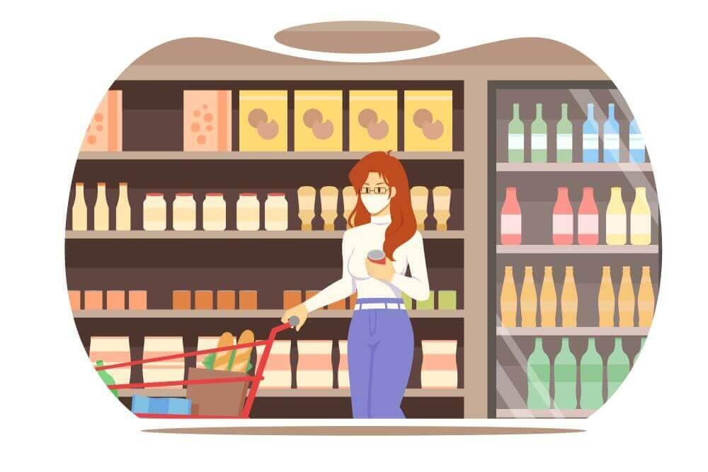 scelta di un prodotto al supermercato