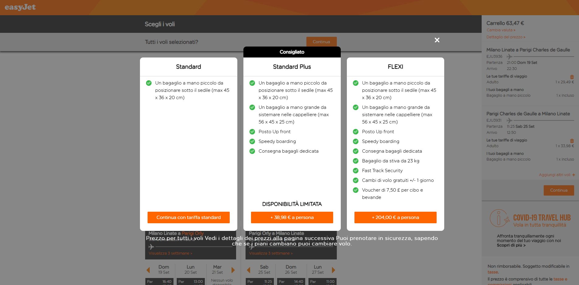 esempio di up-selling
